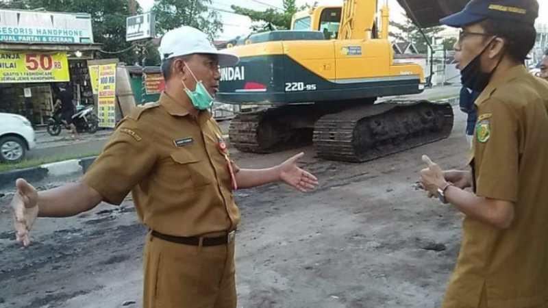 Anggaran 12,8 M untuk Drainase Di Jalan Ruas Temanggung Tilung, Ini Kata Walikota P.Raya.