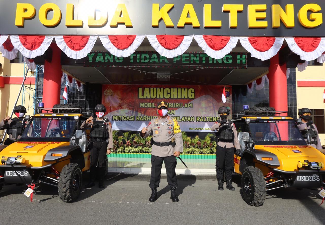 Dukung Pelaksanaan Tugas Polri Dilapangan, Kapolda Kalteng Lounching Mobil Pemburu Api.