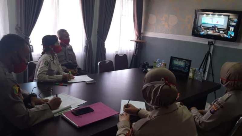 Kapolda Kalteng Berikan Semangat Pasien Anggota Polri Yang Terdampak Cavid-19