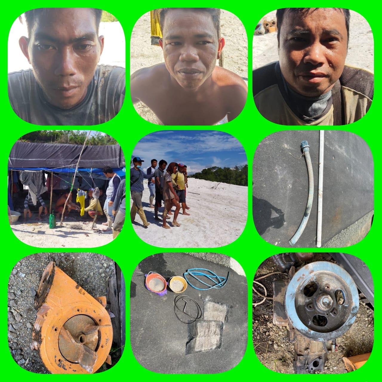 Polres Kapuas Amankan Empat Pelaku Illegal Mining di Desa Danau Pantau