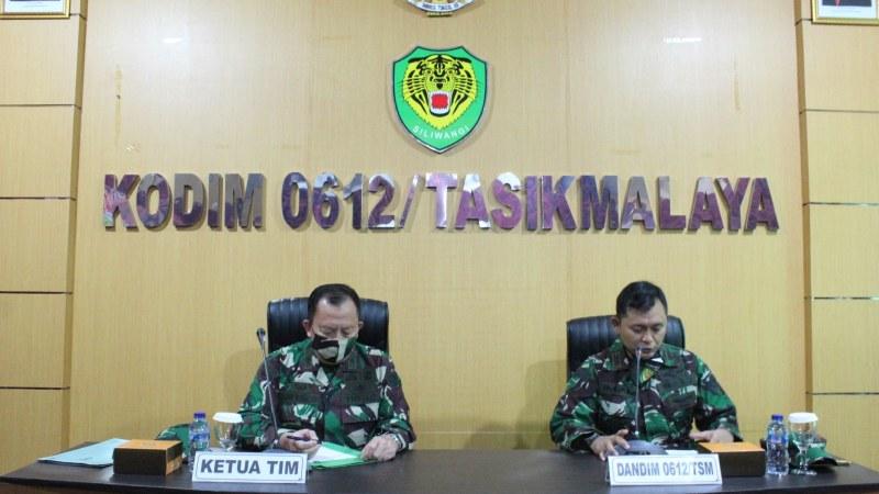 Pusterad TNI AD Menggelar Kegiatan Acara Analisa Penyelenggaraan Kegiatan Pembinaan Teritorial Kodim 0612/Tasikmalaya