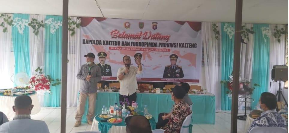 Kapolda Kalteng Cek Ketahanan Pangan Nasional di Desa Petak Batuah.