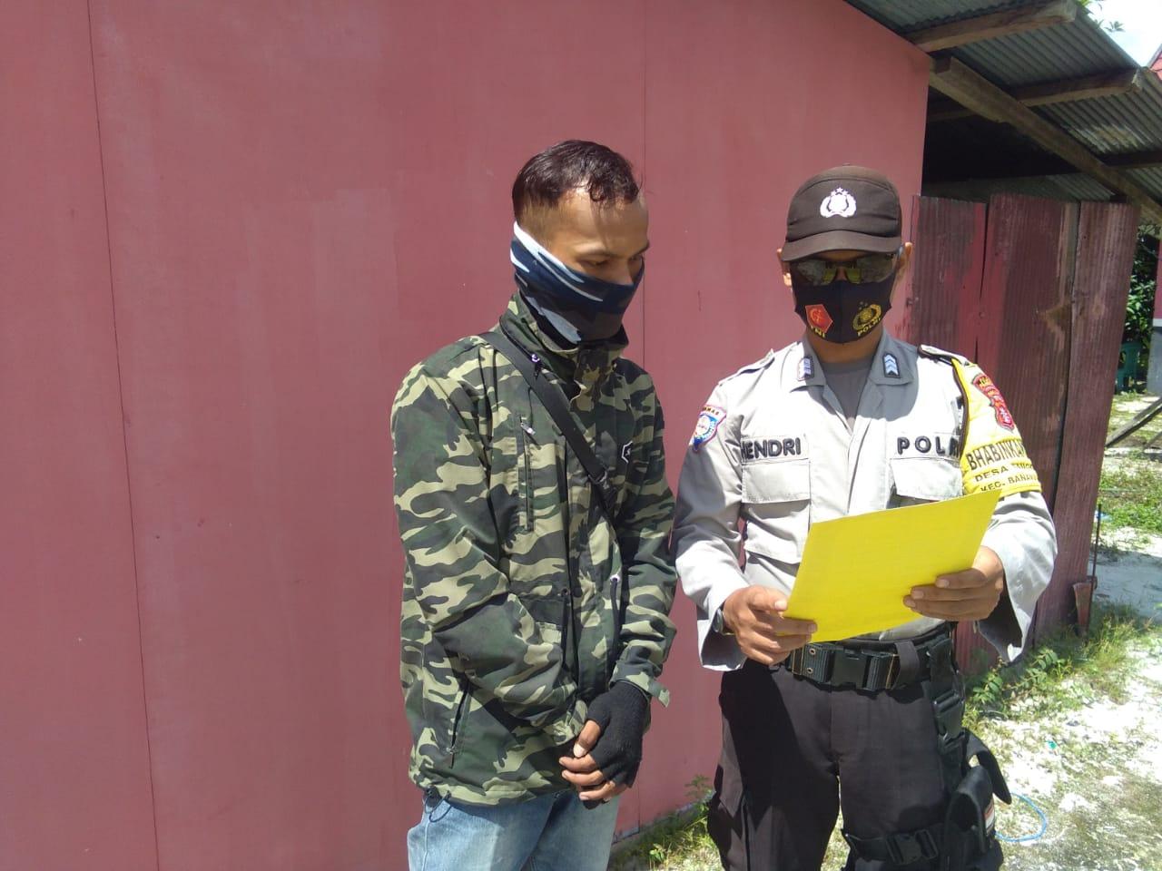 Brigadir Hendri Berikan Himbauan Kepada Masyarakat Agar Bersama-sama Menjaga Lingkungan Dari Karhuta