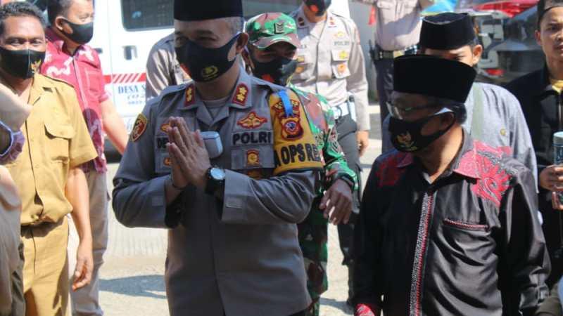 Kapolres Garut Bersama Mantan Napiter Silaturahmi Kamtibmas Bersama Warga Sindanggalih