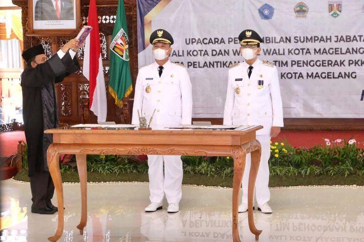 Resmi Jabat Walikota Dan Wakil Walikota Magelang M. Nur Aziz Dan M. Mansyur