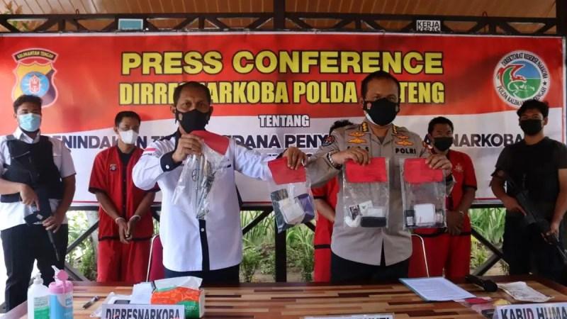 Polda Kalteng Ungkap Tiga Kasus Narkoba, Selama 48 Jam.