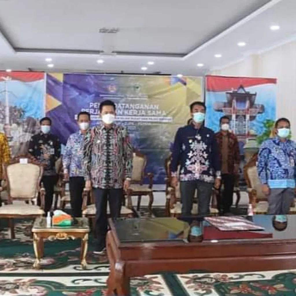 Tandatangani PKS Antara DJP, DJPK, Dan Pemda, Bupati Barito Utara Ajak Genjot Pajak