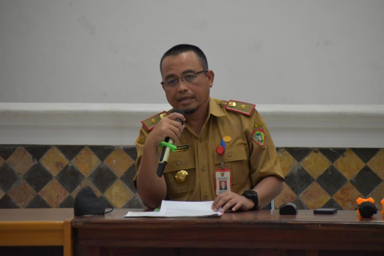 Kepala Dinas Kehutanan Prov. Kalteng Sri Suwanto saat penjelasan  Food Estate