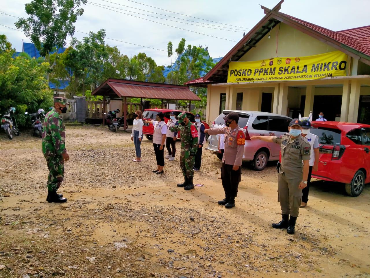 Danramil Kurun Pimpin Patroli PPKM Mikro, Himbau Warga Taati Protokol Kesehatan