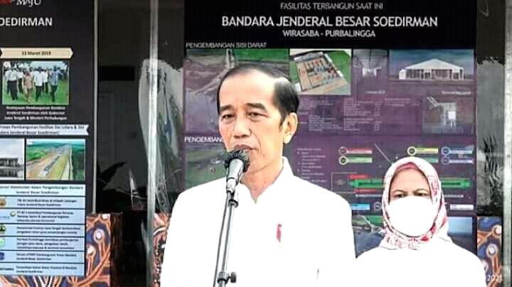 Presiden Jokowi Didampingi Gubernur Ganjar Tinjau Bandara Jenderal Soedirman