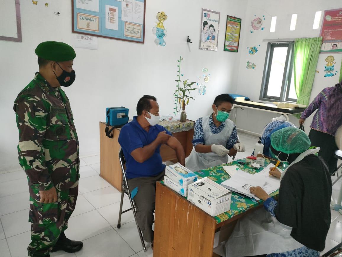Vaksin Tahap II Diikuti Oleh Pelayan Publik dan Lansia Desa Sei Cabang