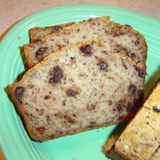 Sugar-Free Chocolate Chip Banana Bread