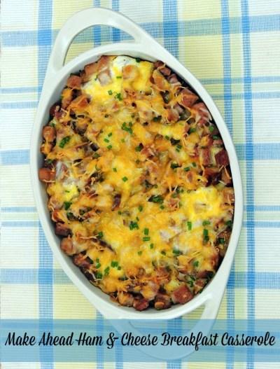 Make-Ahead Ham & Cheese Breakfast Casserole
