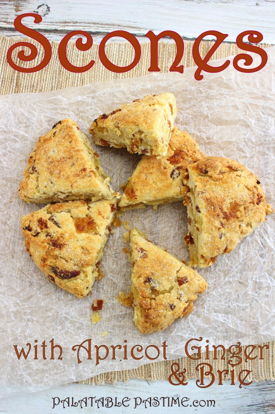 Scones with Apricot, Ginger & Brie #BreadBakers