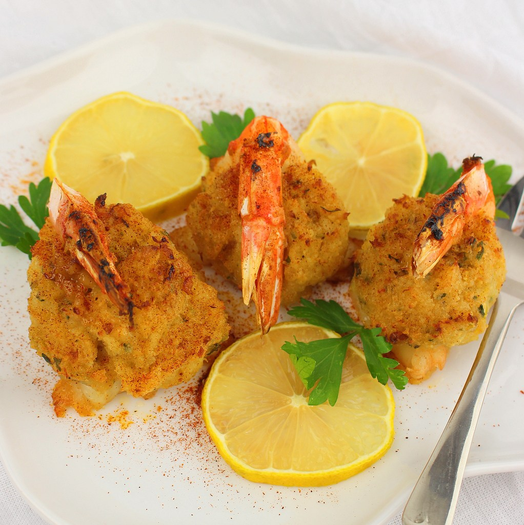 Crab Stuffed Shrimp #FishFridayFoodies