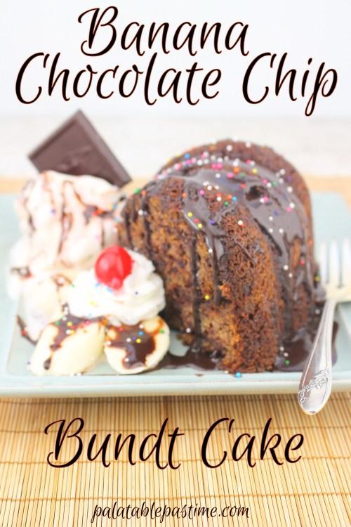 Banana Chocolate Chip Bundt Cake