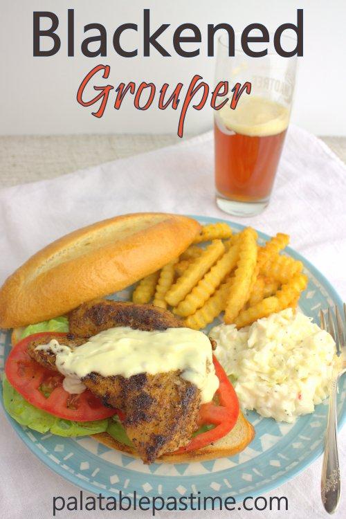Blackened Grouper Sandwich