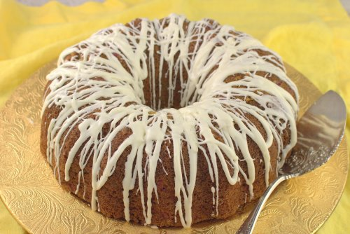 Raspberry Bundt Cake with Lemon Curd Filling