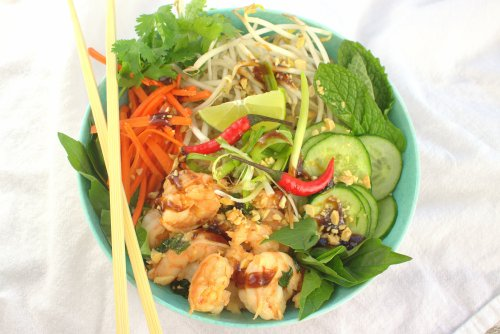 Lemongrass Shrimp Rice Bowls