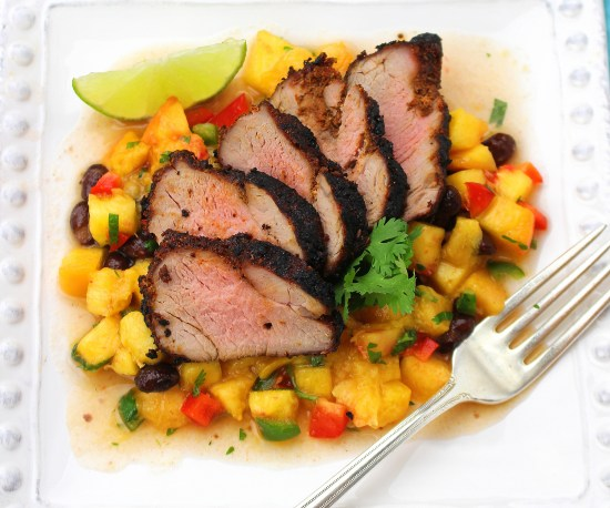 Santa Fe Pork with Peach Salsa