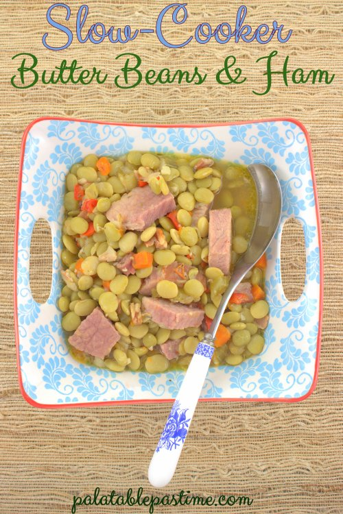 Slow Cooker Butter Beans with Ham
