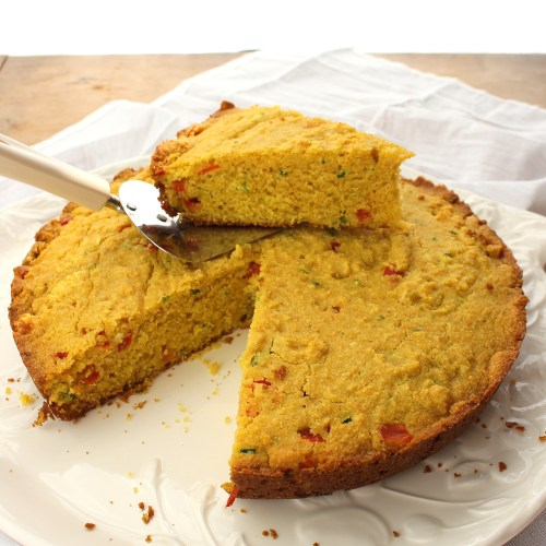 Zucchini and  Pepper Cornbread