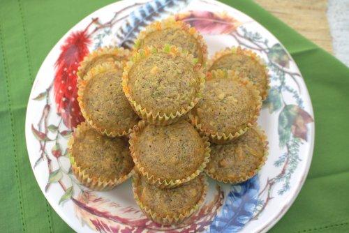 Zucchini Walnut Muffins