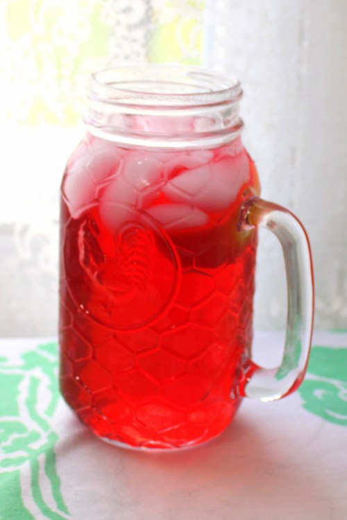 Mrs. Mango's Iced Hibiscus Flower Tea