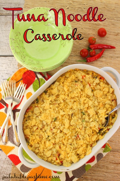 Tuna Noodle Casserole #tuna #casseroles #comfortfood #homecooking #baked #onedishmeal #fishrecipes #easyrecipes