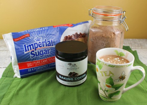 Homemade Hot ChocolateMix with product