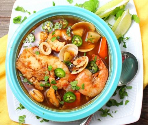 Caldo de Mariscos (Mexican Seafood Soup)
