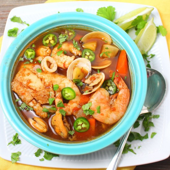 Caldo de Mariscos (Mexican Seafood Soup)