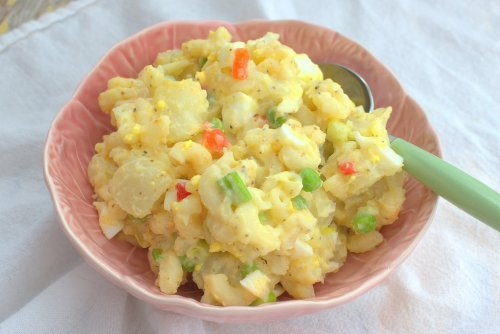 Potato-Mac Salad with Amish Boiled Dressing