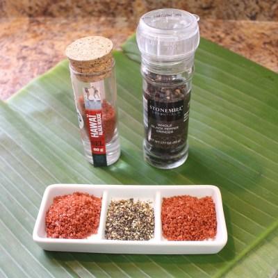 Alaea Salt, Black Pepper and Banana Leaves