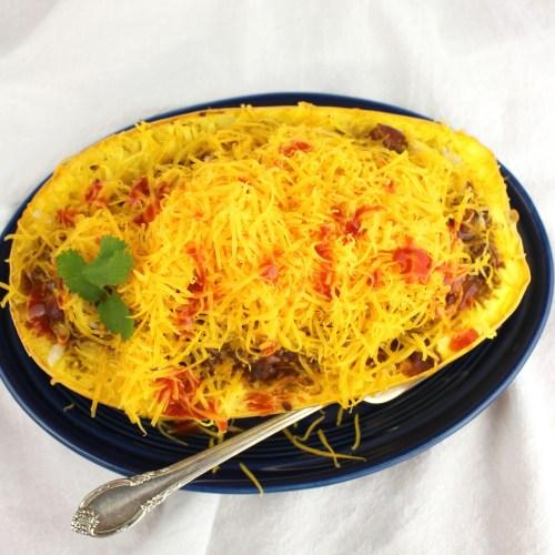 5-Way Cincinnati Chili Spaghetti Squash Boats