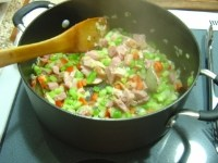 veggies just starting to cook