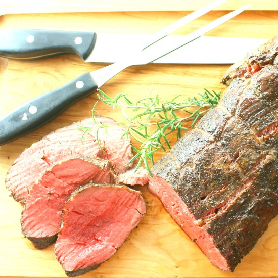 Lendenbraten with Black Truffle Sauce is a Certified Angus Beef Tenderloin Roast done in the German style with a porcini mushroom rub and a truffled French sauce