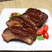 Ribs with Whiskey Maple Barbecue Sauce