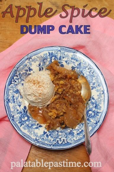 Apple Spice Dump Cake #SundaySupper