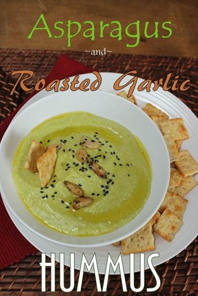 Asparagus and Roasted Garlic Hummus for #SundaySupper
