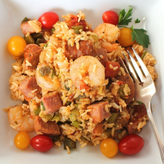Cajun Hambalaya for #SundaySupper