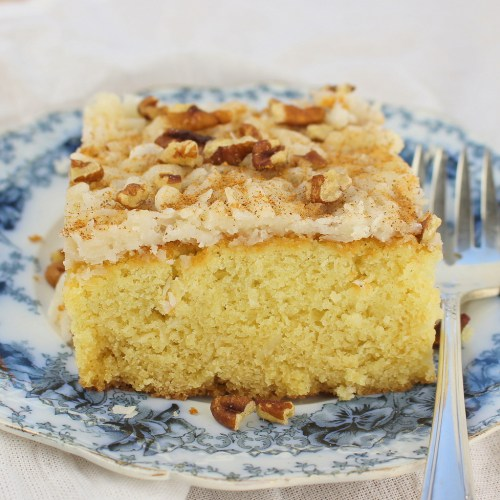 Coconut Syrup Cake