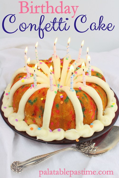 Phenomenal Confetti Birthday Bundt Cake Birthday Cards Printable Giouspongecafe Filternl