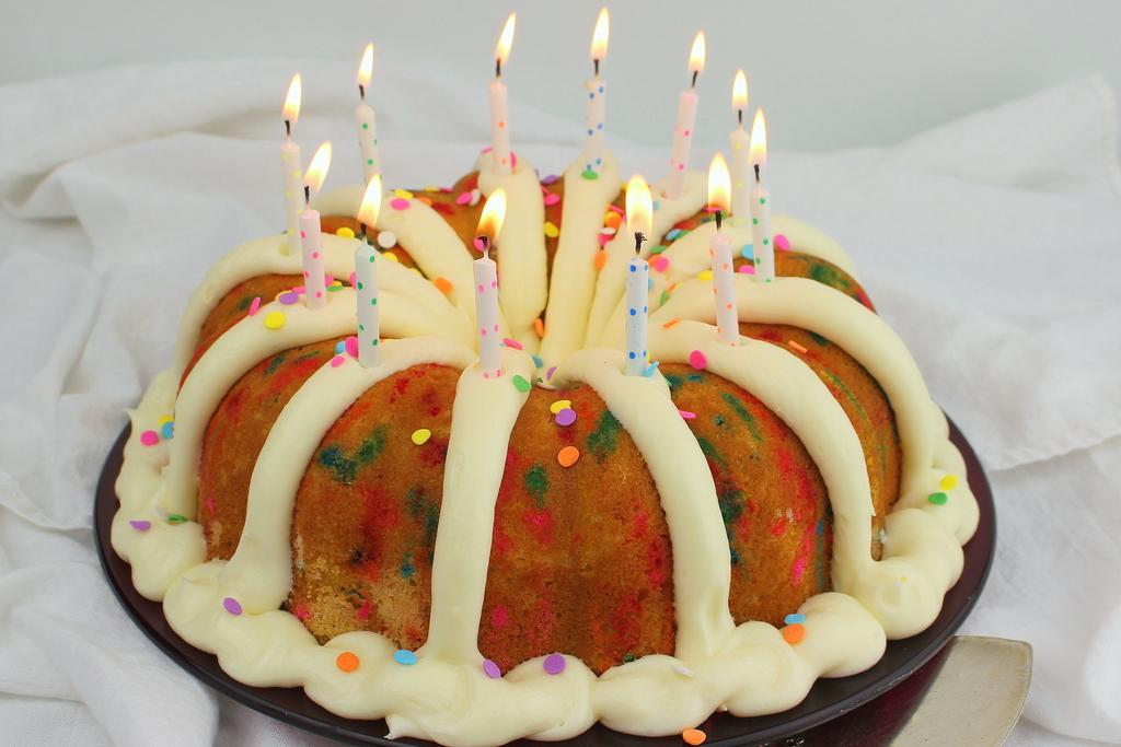 Admirable Confetti Birthday Bundt Cake Personalised Birthday Cards Akebfashionlily Jamesorg