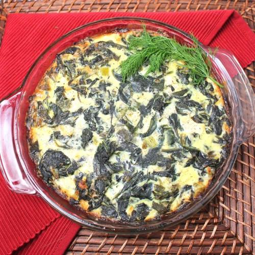 Crustless Greek Spinach Pie