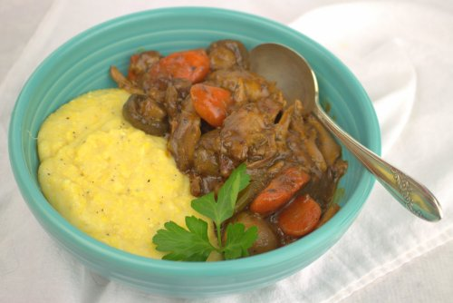 Duck Ragout with Creamy Polenta
