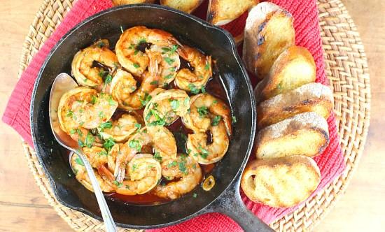 Gambas al Ajillo ~ Spanish Garlic Shrimp Tapas