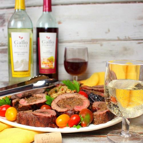 Grilled Flank Steak Pinwheels #GalloFamily #SundaySupper