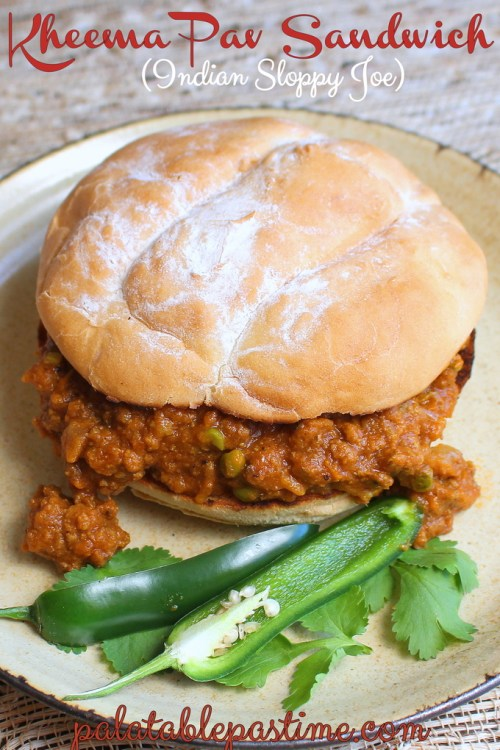 Kheema Pav Sandwiches - Indian Sloppy Joes