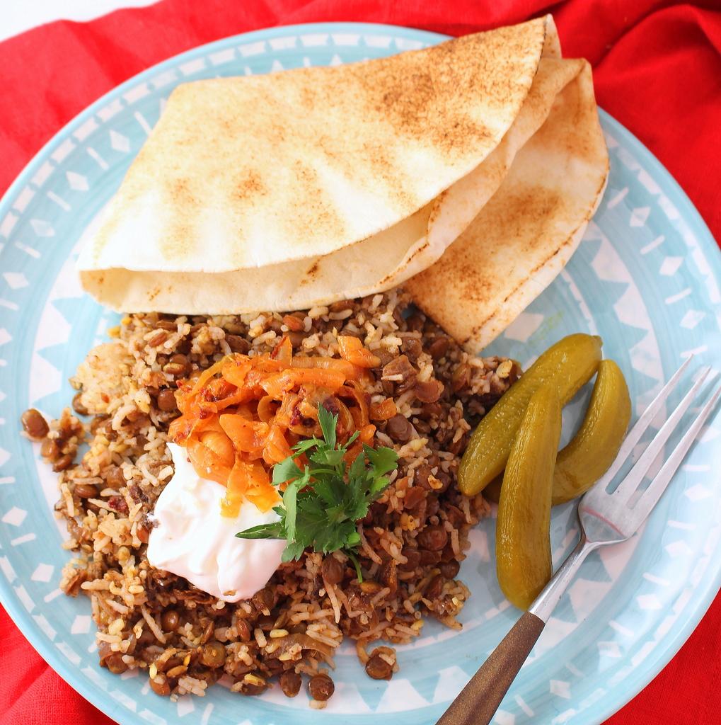 Mujadarra (Lentils and Rice)